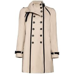 Mango A-line cotton trench coat (£80) found on Polyvore