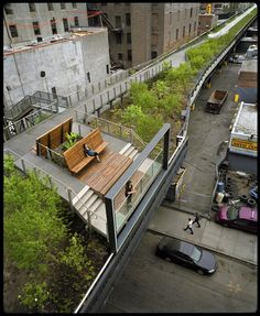 What do you do with an overcrowded city and a bunch crappy old raised railway tracks? Make it in't a garden walk for citizens. Best idea EVER. www.thehighline.org