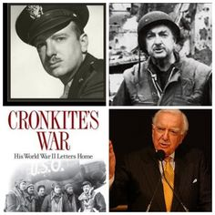 Walter Cronkite-one of 8 journalists selected by the US Army Air Forces to fly bombing raids over Germany in a B-17 Flying Fortress , also landed in a glider to cover the Battle of the Bulge. Covered Korea and Vietnam. (Journalist/TV Anchor)
