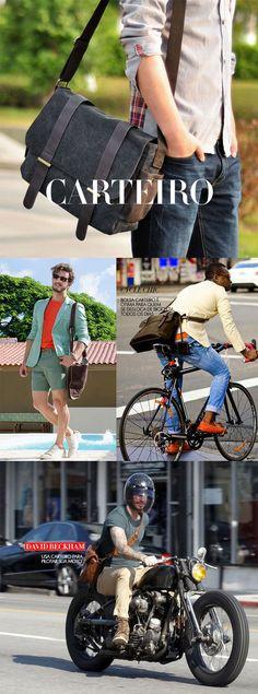 Bolsa masculina, moda masculina.