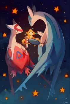 Latios, Latias, and Jirachi