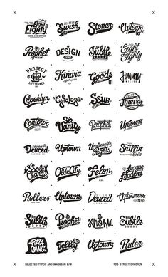 Recent selected types and images in B/W by Oleg Gontarev, via Behance Tattoo Lettering Fonts, Typography Letters, Typography Logo, Lettering Design, Branding Design, Office Branding, Type Design, Graphic Design, Hand Drawn Type
