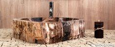 Kamienna umywalka Fossil Wood