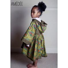 Ankara print hooded girls dress by Amédée coming soon...  www.amedee.co.uk