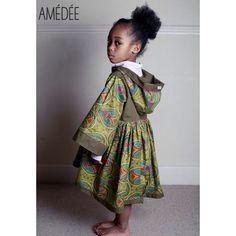 Ankara print hooded girls dress by Amédée coming soon...  www.amedee.co.uk