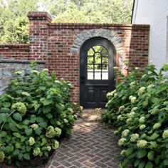 Love the brick, the gate, the pathway, the shrubs... LOVE IT ALL!!