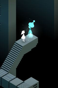 Monument valley: Ida talking to the ghost.
