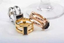Top selling ceramic rings men women ring titanium steel rings 18k gold / rose gold plated rings for women men large