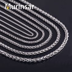 316L Stainless Steel Chain Necklace Width 3 4 5 6 7 8mm Length Customized  Round Link Chain Stainless Steel Jewelry Wholesale. NáramkyBijoux ad188f1a57d