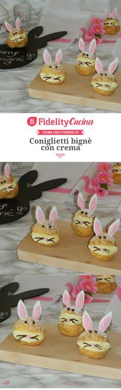 Coniglietti bignè con crema