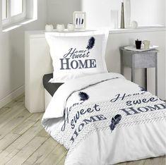 Levné bavlněné povlečení bílé Sweet Home, Bed Sheets, Bed Pillows, Pillow Cases, Furniture, Home Decor, Comforter Set, Bedding, Curtains