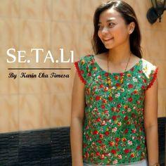 Simple blouse Se.Ta.Li yellow gazania #sewingproject #sewingblouse #simpleblouse #vintageblouse #flowerblouse