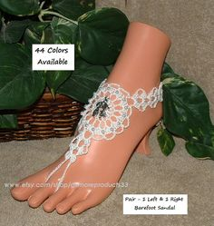 #Barefoot Sandals: https://www.etsy.com/shop/gilmoreproducts33  Kissing Couple Crochet Barefoot Sandals  - You will receive 2 pieces (1 Left and 1 Right) Barefoot Sandal - S... #barefoot
