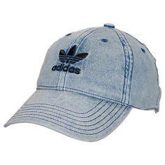 Women's adidas Originals Precurved Washed Strapback Hat - BI0027BI0027-BLU| Finish Line