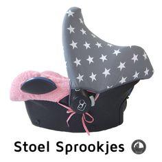 pink grey grijze roze maxi cosi hoes zonnekap sun hood canopy car seat cover ersatz bezug babyschale stars sterren badstof zomerhoes sommerbezug