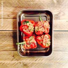 Gevulde paprika met quinoa - Puur Homemade