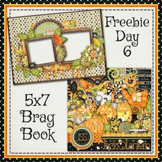 Scrapbooking TammyTags -- TT - Designer - Just So Scrappy, TT - Item - Quick Page, TT - Style - Brag Book, TT - Theme - Halloween