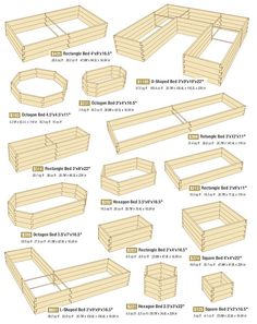 Raised bed gardening layouts.
