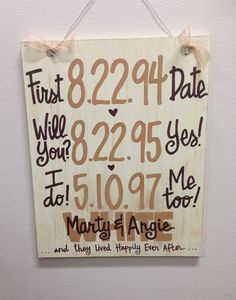 Items similar to Custom Hand-Painted Wedding Anniversary Announcement with Dates on wood sign gift Valentines Day on Etsy Diy Wedding Anniversary Gifts, Wedding Gifts, 13th Anniversary, Anniversary Ideas, Perfect Wedding, Our Wedding, Dream Wedding, Wedding Band, Wedding Reception