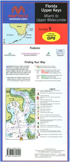 Florida: Upper Keys--Miami to Upper Matecumbe Waterproof Chart