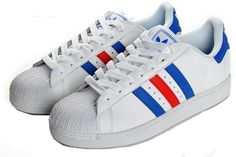 best website 61dae 31724 Adidas Superstar, Red And Blue, Fasion, Trainers, Fashion, Sweatshirt,  Sneakers