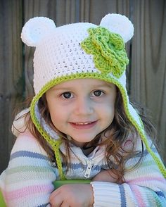 Bear Earflap Hat Crochet Pattern (Permission to sell all finished products). $4.99, via Etsy.