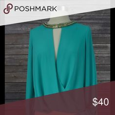 Women's Boutique Clothing Loose Neck Embellished Blouse the clothing company Tops Blouses