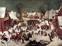 Pieter Breughel l'Ancien (v. 1525-1569) : le Massacre des Innocents. 1565-67. Huile sur panneau de bois, 111 x 160 cm. Vienne, Kunsthistorisches Museum.