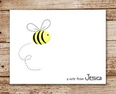 Set of 8 Bee Note Cards Notecards Stationery by CelebrateLilThings, $12.00