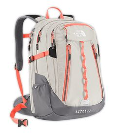 The North Face® Women's Surge II Transit Backpack - Either this color combo, or in the store it comes in a grey/turquoise combo where the bulk of the backpack is grey.