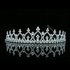 Hair & Head Jewelry Enthusiastic Gorgeous Clear Crystals Wedding Bridal Pageant Prom Flower Girl Tiara/ Headpiece Reliable Performance