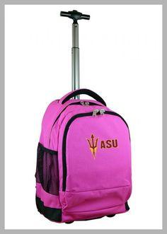 NCAA Arizona State Sun Devils Pink Premium Wheeled Backpack - Price History #NCAA #ArizonaState