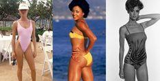 Swimsuits of the featuring Nicolette Sheridan and Florence Griffith Joyner Swimsuits, Bikinis, Swimwear, Celebrity Travel, Brigitte Bardot, Wetsuit, Pin Up, Take That, Lifestyle