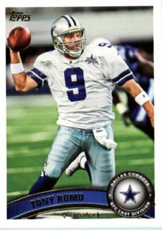 2011 Topps Football Card # 360 Tony Romo - Dallas Cowboys - NFL Trading Card in a Protective Case! by Topps. $0.01. This is one of 440 different cards available from the regular issue set of 2011 Topps Football !!. Great looking 2011 Topps Footbball Card !. 2011 Topps Football Card # 360 Tony Romo - Dallas Cowboys - NFL Trading Card in a Protective Case!