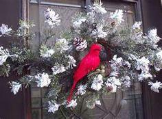 Cardinal door decoration