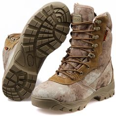 Men's Lace Up Breathable DESERT Hiking boots Army Military Boots ...
