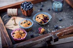 Blueberry Key Lime Tea Cakes, Gluten Free