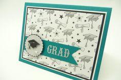Graduation Card Grad Card Graduation Cap Teal by periwinklecards, $4.25