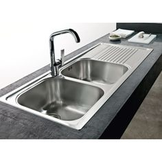 FRANKE Lavello Logica Line cm 116x50 2 vasche inox satinato