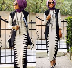 Loving the length of this skirt perfect for the hijabi working girl.