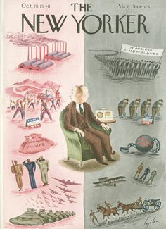 The New Yorker - Saturday, October 19, 1940 - Issue # 818 - Vol. 16 - N° 36 - Cover by : Constantin Alajalov