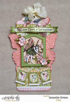 Once Upon A Springtime (G45) Large Ivory Tag by Annette Green - Annettescreativejourney.blogspot.com