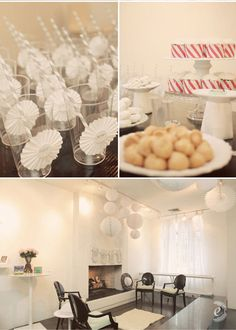 pretty white shower; use straw pattern to wrap pencils for signing guest book and activities?