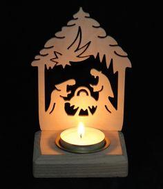 Svícny na čajové svíčky | Svícen - Betlém malý | Rubíno - dřevěná dekorace Table Lamp, Lighting, Home Decor, Table Lamps, Decoration Home, Room Decor, Lights, Home Interior Design, Lightning