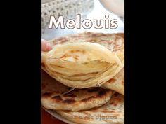 Recette Meloui facile / round puff pancakes/طريقة تحضير ملوي مورق بطريقة جد سهلة - YouTube