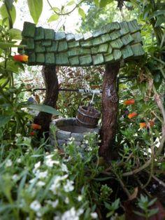 Fairy-Garden-Wishing-Well-Dollhouse-Miniature-In-Outdoor-Fiddlehead-Large-16435