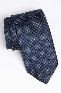 $75, Woven Silk Tie Navy Regular by J.Z. Richards. Sold by Nordstrom. Click for more info: http://lookastic.com/men/shop_items/98881/redirect