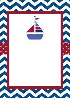 Invitaciones de Nautica (marinero) Nautical Photo Booth, Nautical Party, Sailor Baby Showers, Baby Boy Shower, Baby Showers Marinero, Deco Buffet, Sailor Theme, Baby Shawer, Sea Theme
