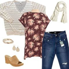 Use this outfit as inspiration to pick out the perfect outfit for travel. Get your summer inspiration right here. Click the photo and visit the shop to see what else we have in stock.