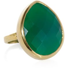 Monica Vinader Nugget 18-karat gold-vermeil onyx ring ❤ liked on Polyvore